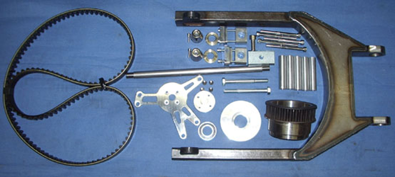 SPORTSTER SWINGARM-KIT, KETTENSPANNER<br/>2006-07 ,TÜV CERTIFICATE, W/REAR BELT 139-1-1/8&nbsp;AXLE 1&quot;/25.4 mm&nbsp;