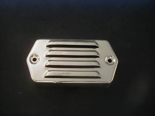 IGNITION MODULE COVER<br/>CHROME, LOUVERED