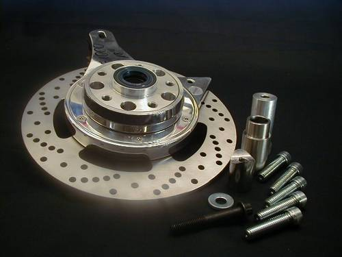 PULLEY BRAKE SYSTEM LEFT SIDE DRIVE FITS EVO & TC<br/>1&quot;&3/4&quot; AXLE W/10&quot; DISC, 15&quot;/61T OR 16&quot;/65T PULLY&nbsp;&nbsp;