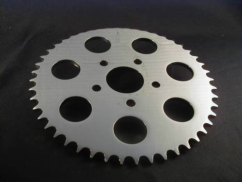 SPROCKET 48T CHROME FLAT, LATE<br/>SPORTSTER 1986-ON&nbsp;&nbsp;