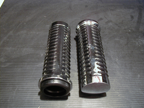 NEW O-RING GRIPS 1&quot;<br/>FITS ALL MODELS 1973-95,CHROME&nbsp;&nbsp;