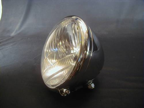 HEADLIGHT FOR EARLY SPRINGER 12V CHROM<br/>KEIN VERKAUF IN DEUTSCHLAND&nbsp;&nbsp;