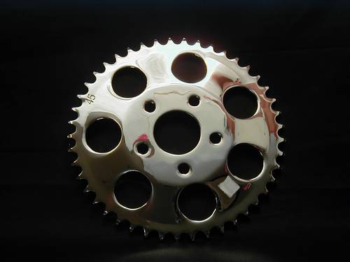 SPROCKET 45T CHROME DISC BRAKE<br/>KETTENRAD FÜR SCHEIBENBREMSE&nbsp;&nbsp;