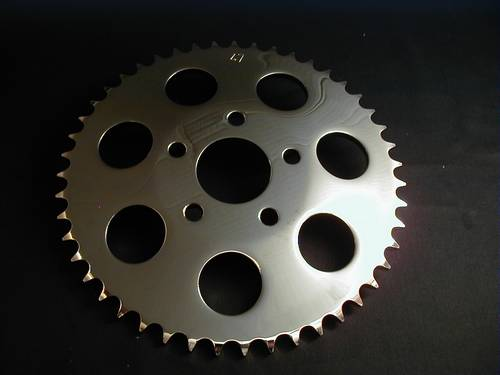 SPROCKET 47T CHROME DISC BRAKE<br/>KETTENRAD FÜR SCHEIBENBREMSE&nbsp;&nbsp;