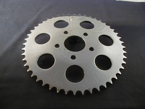 SPROCKET 49T CHROME DISC BRAKE<br/>KETTENRAD FÜR SCHEIBENBREMSE&nbsp;&nbsp;