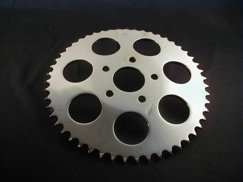 SPROCKET 51T CHROME DISC BRAKE<br/>KETTENRAD FÜR SCHEIBENBREMSE&nbsp;&nbsp;