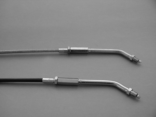 THROTTLE CABLE STAINLESS STEEL<br/>REPL. 56324-81C,BIG THREAD 45°