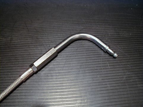 THROTTLE CABLE STAINLESS STEEL<br/>6&quot;, 90°, 1996-UP, LARGE DIA.&nbsp;110 cm&nbsp;