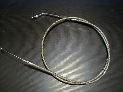THROTTLE CABLE 8´ STAINLESS ST<br/>REPL. 56313-76,45° BIG THREAD&nbsp;&nbsp;