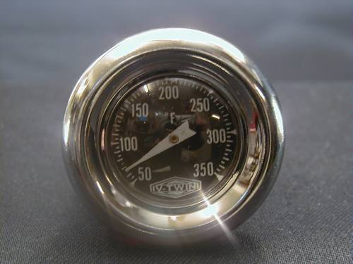 OIL TANK TEMP.GAUGES, LONG<br/>CUSTOM & SIDE FILL TANKS,65-91