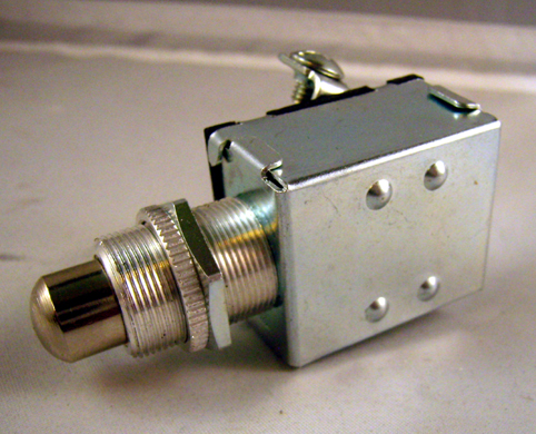UNIVERSAL  PUSH BUTTON STARTER SWITCH<br/>60A at 12V, CHROME PLATED&nbsp;&nbsp;