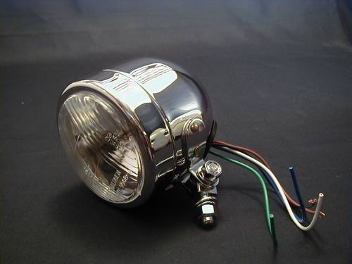 3-1/2&quot; HEADLIGHT COMPL. B/M H4<br/>12 V 60/55 WATT, E-NORM (90mm)&nbsp;&nbsp;