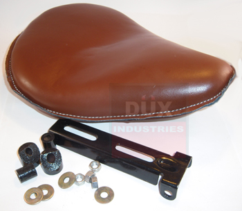 SEAT, SOLO 9&quot; BROWN LEATHER<br/>WITH BRACKET, MADE IN MEXICO&nbsp;&nbsp;