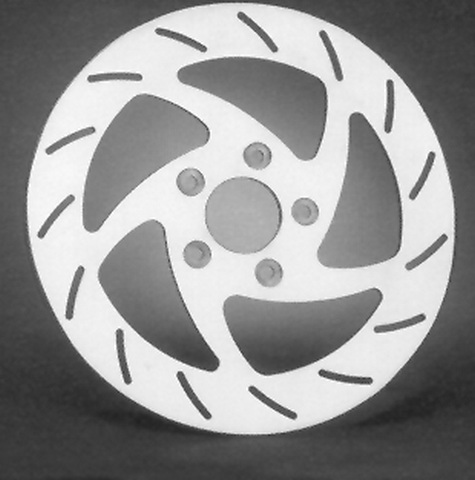 "RST STAINLESS STEEL BRAKE DISC, DESIGN ""C""<br/>FRONT, LEFT, 11.5"", 5-SPOKE SWEPT -2000"