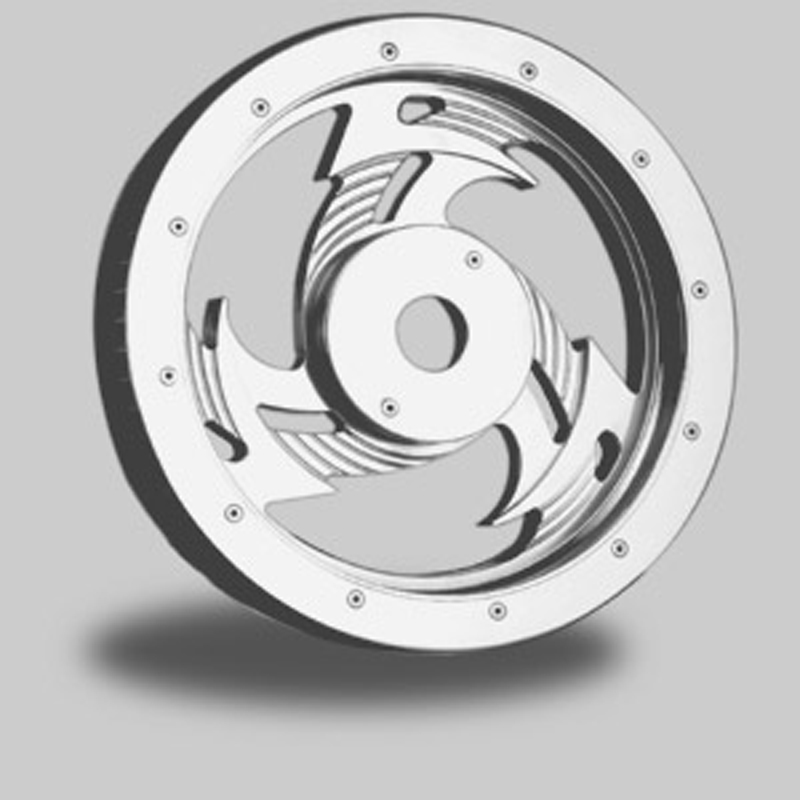 "RICKS 3-SPOKES H.LECTOR REAR BELT PULLEY<br/>61 TOOTH, 1-1/8"", POLISHED"