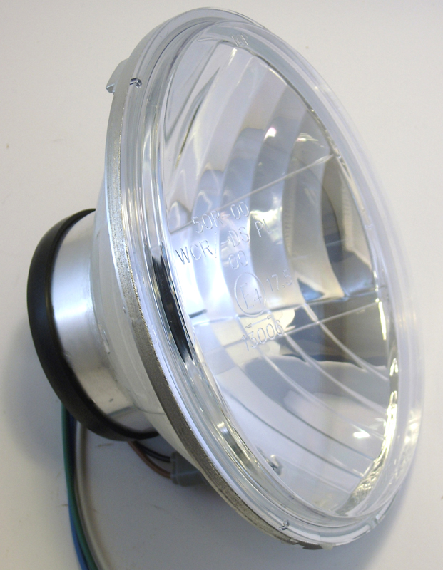 "7"" LIGHTING INSERT WITH CLEAR LENS<br/>H4 WITH PRISMAR REFLECTOR"