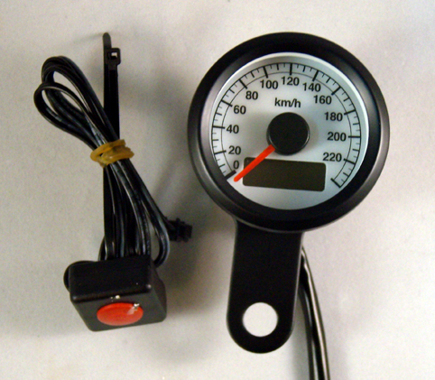 SPEEDOMETER LED BLUE 48mm<br/>FOR HARLEY-DAVIDSON&nbsp;&nbsp;