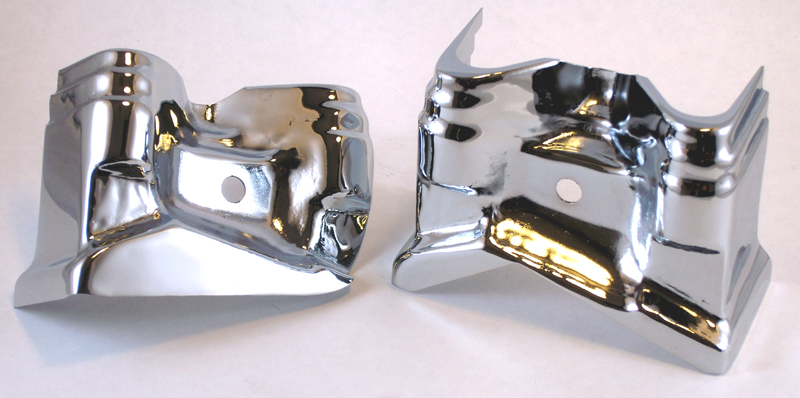 CHROME TAPPET BLOCK COVERS<br/>FOR IRON SPORTSTER