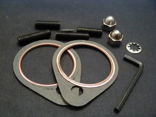 SHOVELHEAD EXHAUST STUD-NUT<br/>AND GASKET KIT