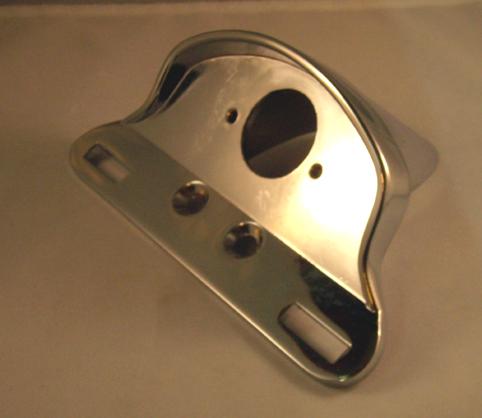 TAILLIGHT & LICENSE PLATE  BRACKET, CHROME<br/>FITS CATEYE&nbsp;&nbsp;