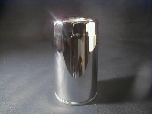 CHROME SPIN-ON OIL FILTER<br/>63813-90 BT ´91-up, XL ´84-up&nbsp;&nbsp;