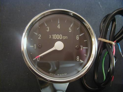 ELECTRONIC MINI RPM-METER<br/>0-8000 RPM WITH BLACK FACE&nbsp;&nbsp;