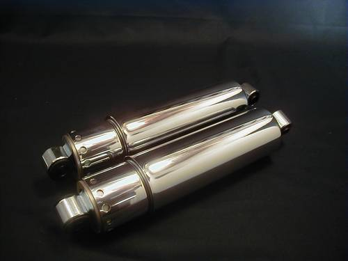 CHROME SHOCKS 12&quot; WITH COVER<br/>1973-1986, PAIR&nbsp;&nbsp;
