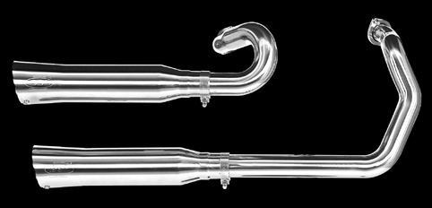 BSL EXHAUST SYSTEM, VA,<br/>GROOVE LOW EXIT, 2-1/4, POLISHED&nbsp;XL 1986-03, WITH TÜV CERTIFICATE&nbsp;