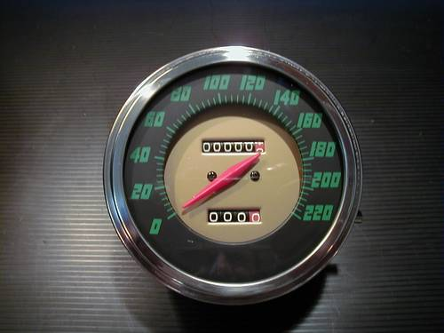 SPEEDOMETER ´56-61 FACE 2:1 KM<br/>&nbsp;&nbsp;