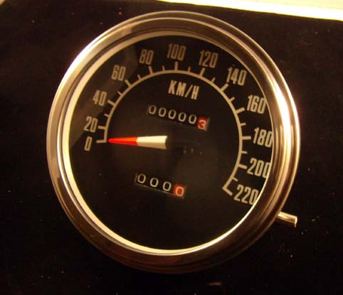 SPEEDOMETER ´68-72 FACE 2:1 KM<br/>&nbsp;&nbsp;