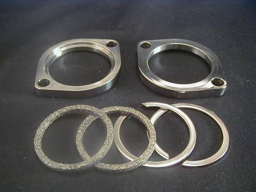HEADER FLANGE SET, Pair,<br/>Chrome, BT1984-99 and TC 2000-up
