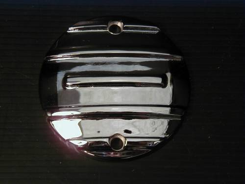 FINNED POINT COVER, CHROME<br/>SPORTSTER