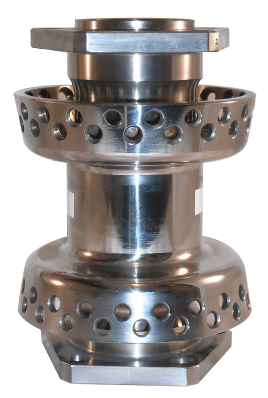DUAL FLANGE HUB STAINLESS STEEL<br/>80 HOLE, WITH 19mm BEARINGS&nbsp;TWIN CAM SOFTAIL 2000-UP, NOT SPRINGER&nbsp;