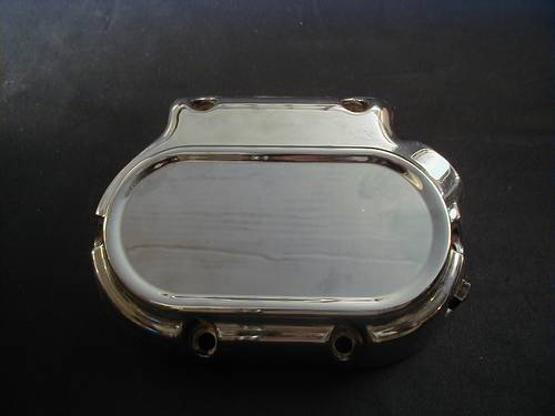 "TRANSMISSION COVER, CHROME, ""666""<br/>5/6 SPEED, GETRIEBEDECKEL neues Bild OEM 37105-87A"