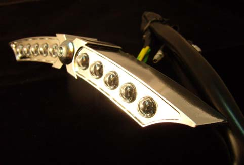LED TAILIGHT X-WING<br/>CHROME PLATED HOUSING WITH E-MARK&nbsp;20° VERSTELLBAR&nbsp;