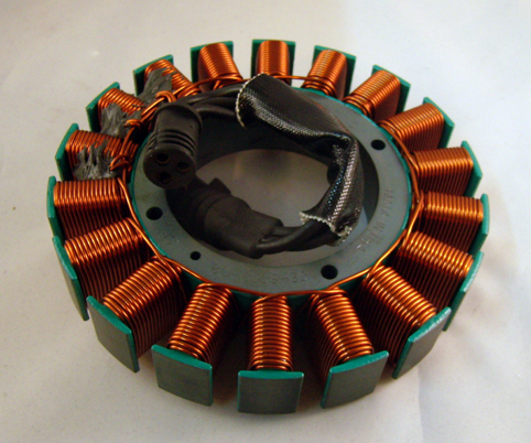STATOR 2008 - 2010  SOFTAIL /  DYNA<br/>50 AMPS CYCLE ELECTRIC&nbsp;&nbsp;