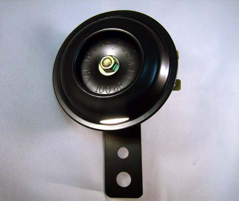 BLACK MINI HORN, 70mm DIAMETER<br/>12 VOLT 100db&nbsp;&nbsp;