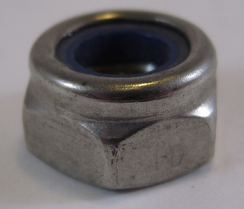 HEX NUT NYLOCK STAINLESS STEEL<br/>M6