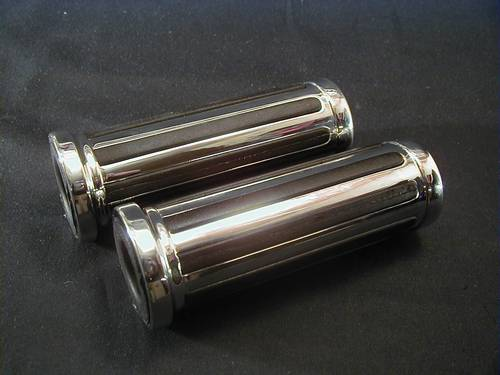 AIRGLIDE CUSTOM GRIPS FOR 7/8&quot;<br/>5&quot; LONG, CHROME (Pair 7/8&quot;+1&quot;)&nbsp;&nbsp;