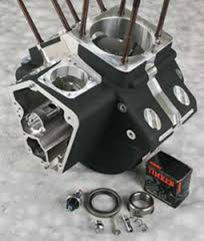 CRANKCASE ASSEMBLY, BLACK<br/>STOCK BORE 1984 -91 BT