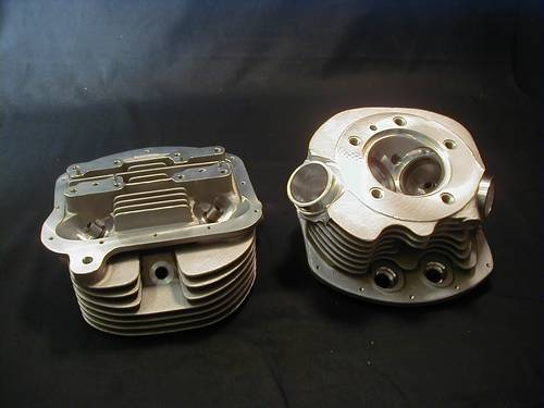 S.T.D PAN SHOVEL CYLINDER HEADS<br/>STOCK BORE , SINGLE PLUG, .550&quot; LIFT&nbsp;WITH VALVE AND SPRINGS&nbsp;